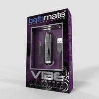 Мощная перезаряжаемая вибропуля Bathmate-Vibe Chrome серебристая