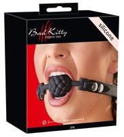 Силиконовый рельефный кляп Silicone Ball Gag by Bad Kitty