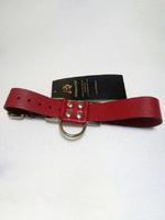 Ременные наручники с полукольцом шир.3.0см (красные)