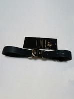 Ременные наручники с полукольцом шир.2.0см (черные)
