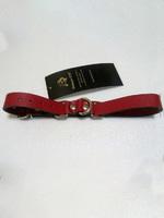Ременные наручники с полукольцом шир.2.0см (красные)
